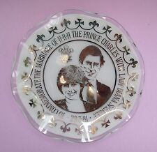 Vintage collectible plate, Chance glass, Charles and Diana wedding, 1981
