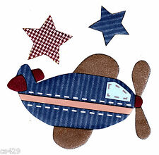 """4"""" BABY MARTEX PRO FLYER PLANE NURSERY AIRPLANE PREPASTED WALL BORDER CUT OUT"""