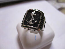 Sterling Silver Men's Ring Boat Anchor solid 925 silver size 8