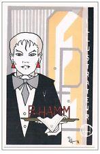 Patrick HAMM-Carte personnelle n°100 signée par l´artiste 181/350 1984 TRES RARE
