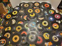 LOT OF 60 45rpm RECORDS Blues-Rock-R&B-Soul-Hispanic Vintage