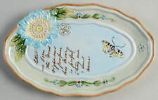 Fitz & Floyd Toulouse Blue Oval Appetizer Dish 11594877