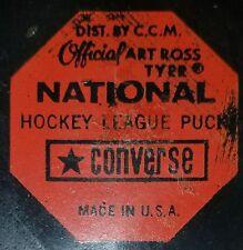 Vintage Art Ross Converse Philadelphia Flyers Puck 1969-77 Rubber Crest CCM USA