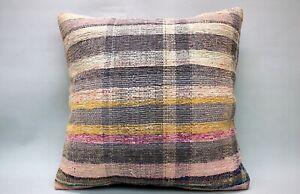 Kilim Sofa Pillow, 20x20 in, Decorative Ethnic Cushion, Handmade Boho Pillow
