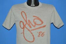 5a299847354b vintage 80s GHD 1986 WEST VIRGINIA WESLEYAN COLLEGE GRAY SOFT t-shirt  MEDIUM M