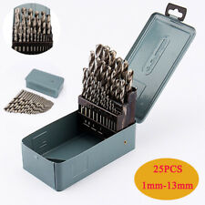 1mm-13mm Professional  HSS Twist Drill Bits Metal Drill Bit Set + Case 25Pcs/Set