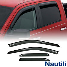 4x For 09-18 Ram 1500 Quad/Extended Cab Sun Rain Guard Vent Shade Window Visors