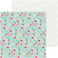 """Doodlebug - Milk & Cookies - CANDY CHRISTMAS - 12x12"""" d/sided scrapbooking paper"""