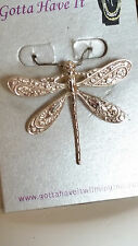 Artisan 92.5 Sterling Silver Dragonfly Pendant Pin By Mary Kelly - Ireland