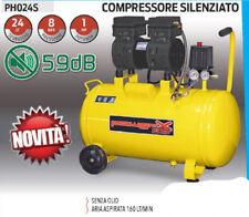 COMPRESSORE 24 25 LT SILENZIATO A SECCO ITALY 8 BAR 1 HP ITALY