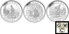 2015 Set of 3 'Cornelius Krieghoff' Proof $5 Silver Coins .9999 Fine (15303)