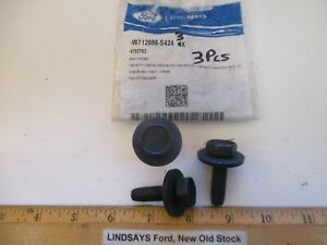 """3 PCS FORD 2013/18 C-MAX, ESCAPE, FUSION """"BOLT"""" BATTERY HOLD DOWN, W712888-S424"""