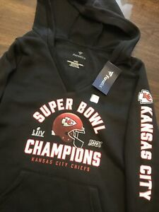 NFL Kansas City Chiefs Super Bowl LIV Champions Hoodie Jacket New Womens Medium