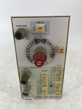 Vintage Tektronix 5b10n Time Base Amplifier Test Panel Parts Or Repair