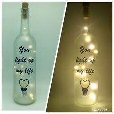 light up bottle lamp can personalise best friend loved one unique gift present