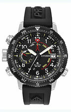 Citizen BN5058-07E Men's Eco-Drive Promaster Altichron Black Rubber Watch