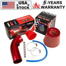 "Universal Red Pipe Diameter 3""+Cold Air Intake Filter+Clamp+Car Air Intake Kit"