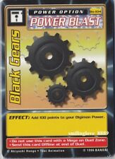 BANDAI DIGIMON CARD LOT - BOOSTER SERIES 2 - Bo-104 BLACK GEARS + 4 COMMON CARDS