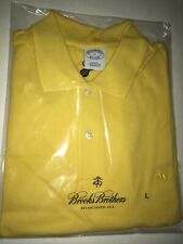 NWT Brooks Brothers 1818 Yellow POLO Shirt MENS L Large Slim Fit FREE SHIP