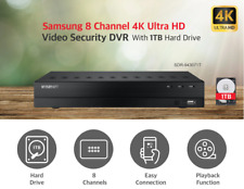Wisenet SDR-943071T - 8 Channel Ultra HD 4K Security DVR with 1TB Hard Drive