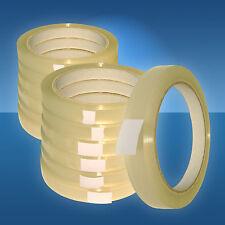 12 mm PP -Klebeband, transparent, Klebefilm, 12 Rollen, 66 m, f. Beutelschließer