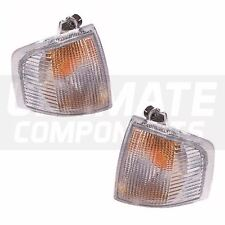 Ford Escort Mk4 Hatchback 1986-1/1991 Front Clear Indicator Lights Lamps 1 Pair