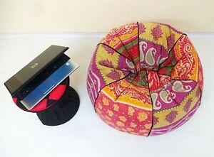 Handmade vintage Cotton Floral Bohemian Hippie Bean Bag Gypsy Ottoman Pouf BA82