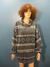 XL blue AZTEC PRINT FLEECE HOODED jacket by IMPACT
