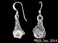 The Arkenstone Earrings, Silver Smaug Claw Earrings, Hobbit Jewelry, Tolkien