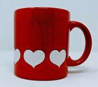 Vintage Valentines Coffee Mug Cup Waechtersbach Germany Red Heart