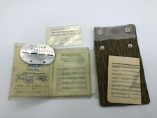 Vintage East German Identification Set - Issued to Soldier