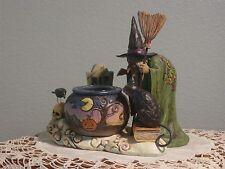 WITCH W/ CALDRON TEALIGHT 4006317 ~ Jim Shore Halloween ~ Heartwood Creek ~ MIB