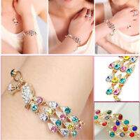 1*Colorful Rhinestone Crystal Peacock Bracelet Fashion Women Bangle Jewelry Gift