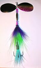 Muskie/Pike Bucktail Spinnerbait Double Size 12 Indiana Blades Fishing Lure