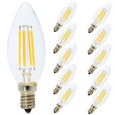 10X 4W E14 LED Filament Dimmbar Glühfaden Fadenlampe Lampe Warmweiß 2700K