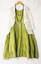 Moonshine Vestido 50 52 54 Verde Estilo De Capas PUNTITOS Puntos verano NUEVO