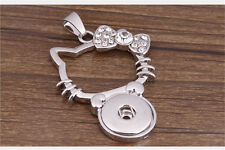 DIY Genuine Crystal Alloy Pendant for Fit Noosa Necklace Snap Chunk Button WC023