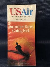 Vintage US Air System Timetable, May 1990
