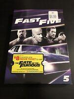 Fast Five DVD Vin Diesel Paul Walker The Rock Dwayne Johnson