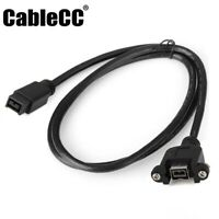 Cablecc IEEE 1394b 9Pin Male to Female Extension Cable for Firewire 800 Mount