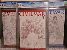 CIVIL WAR #1, 5, 6 - CGC 9.8 SKETCH VARIANT 1:75 Avengers KEY Marvel Comics 2006