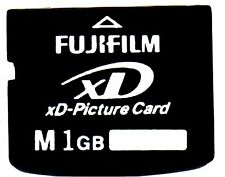 GENUINE 1GB FUJIFILM XD PICTURE CARD - MADE IN JAPAN BY TOSHIBA - OLYMPUS FUJI