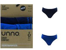 Pack 2 slips hombre Unno Smart Algodón sin costuras calzoncillos Marino/azul L