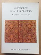 Librairie Sourget manuscrits et livres précieux du XVe au XVIIIe siècle