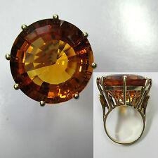488 - Gigantischer 23,7 mm Citrin Ring 15,0g Gold 585 ---  -854-