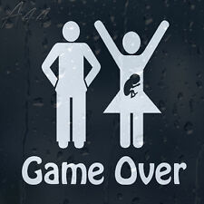 Game Over Funny Car Window Windscreen Body Panel Laptop Decal Vinyl Sticker
