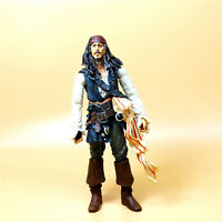 "Disney Pirates of the Caribbean JACK SPARROW ation figure 6"" old nose lost color"