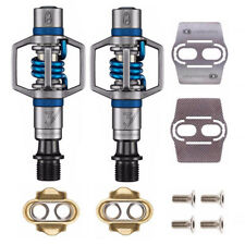 Crankbrothers Eggbeater 3 Bike Pedals (Blue) with Cleats and Shoe Shields