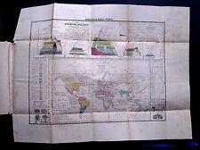 """1857:Da ATLAS F.C.MARMOCCHI.""""GEOGRAFIA DELLE PIANTE"""" Doppio.Foglio Cm 58x44."""