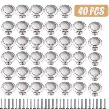 40PCS Stainless Steel Door Knobs Cabinet Handles Cupboard Drawer Kitchen Pulls